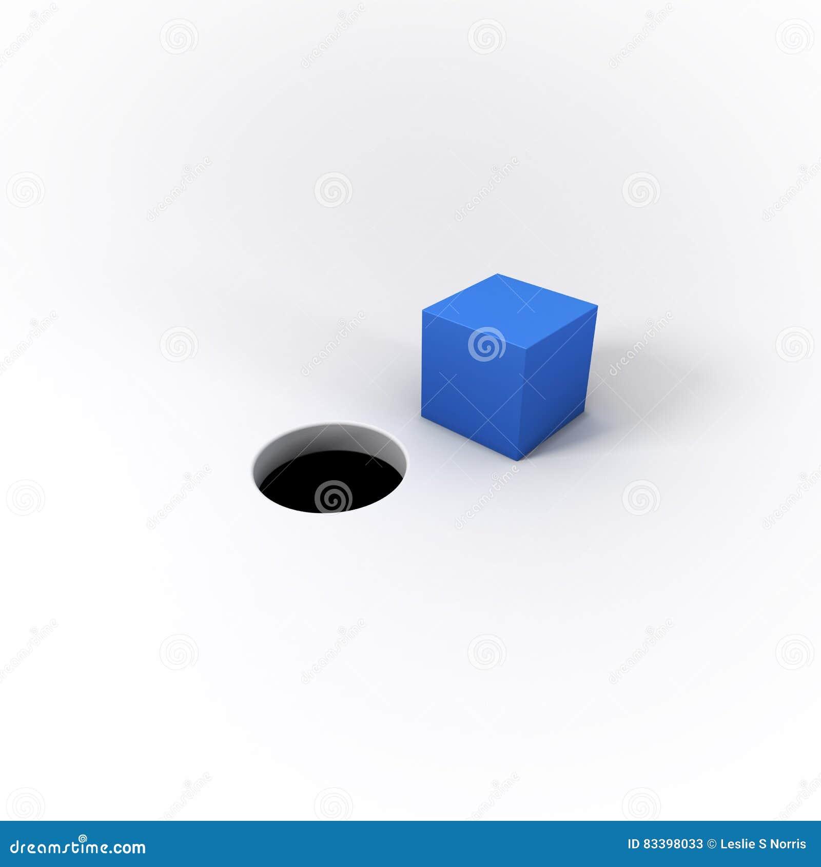 cheville carr e bleue illustr e par 3d et un trou rond sur pentec te lumineux illustration stock. Black Bedroom Furniture Sets. Home Design Ideas