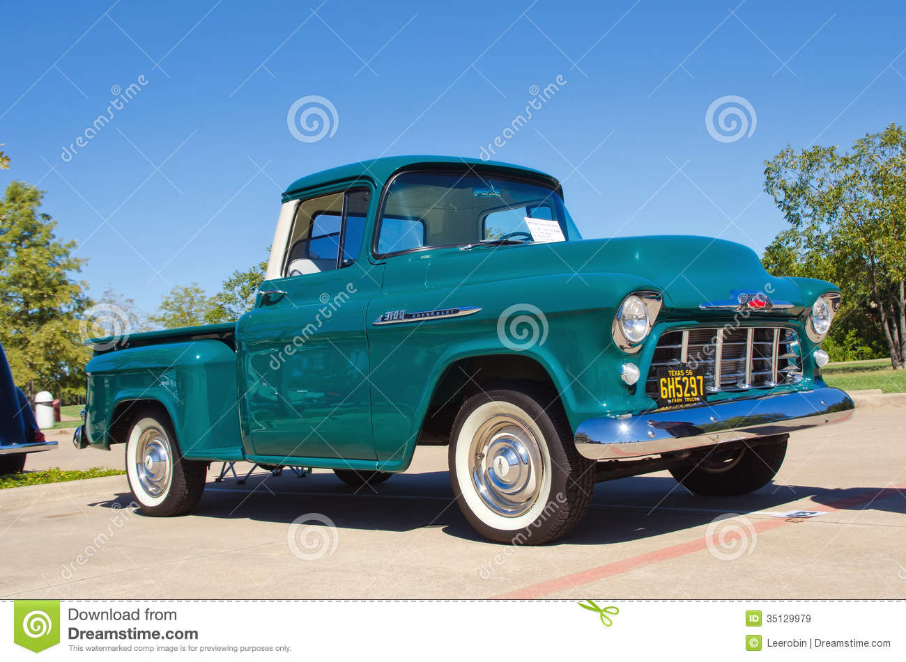 1956 Chevrolet Apache 3100 Pickup Truck Editorial Stock ...