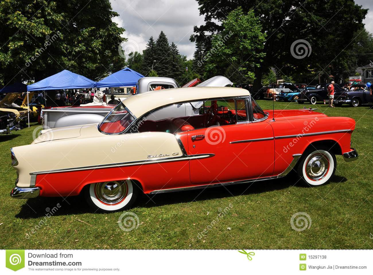 Chevrolet Bel Air In Antique Car Show Editorial Stock Photo ...