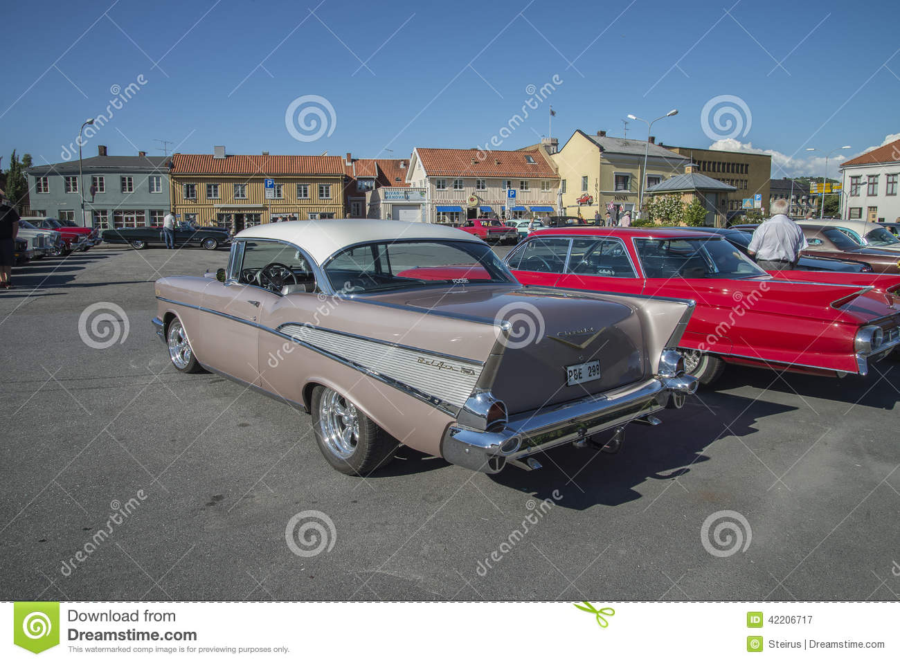 1957 Chevrolet Bel Air 2 Door Hardtop Editorial Photography Image Chevy