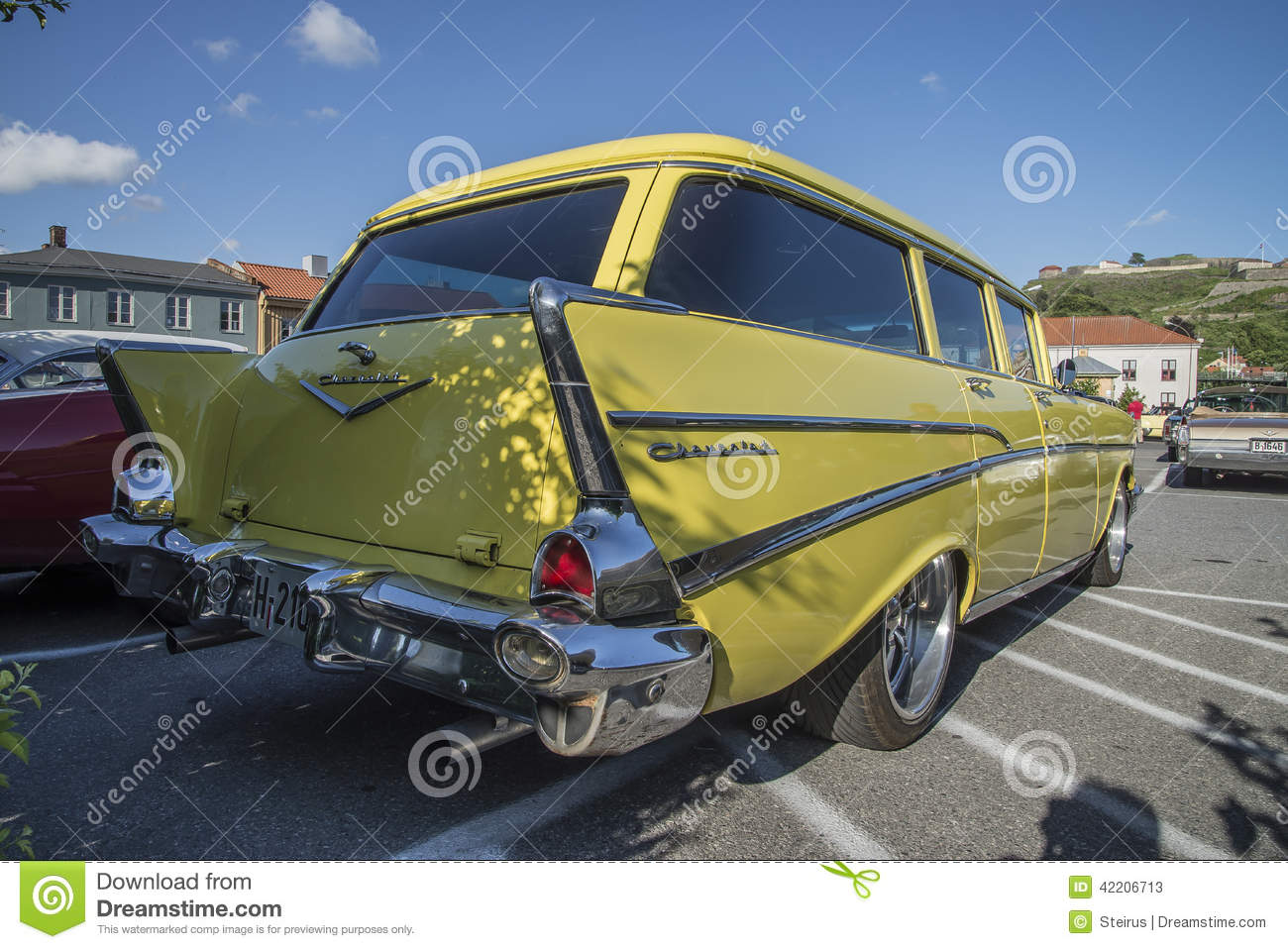 1957 Chevrolet Bel Air Townsman Station Wagon Editorial Stock Photo Chevy