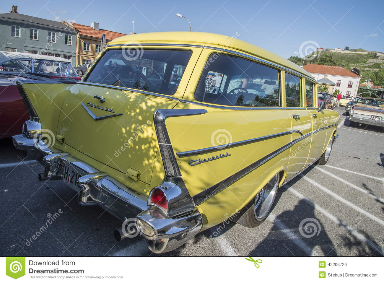 1957 Chevrolet Bel Air Townsman Station Wagon Editorial Image Chevy
