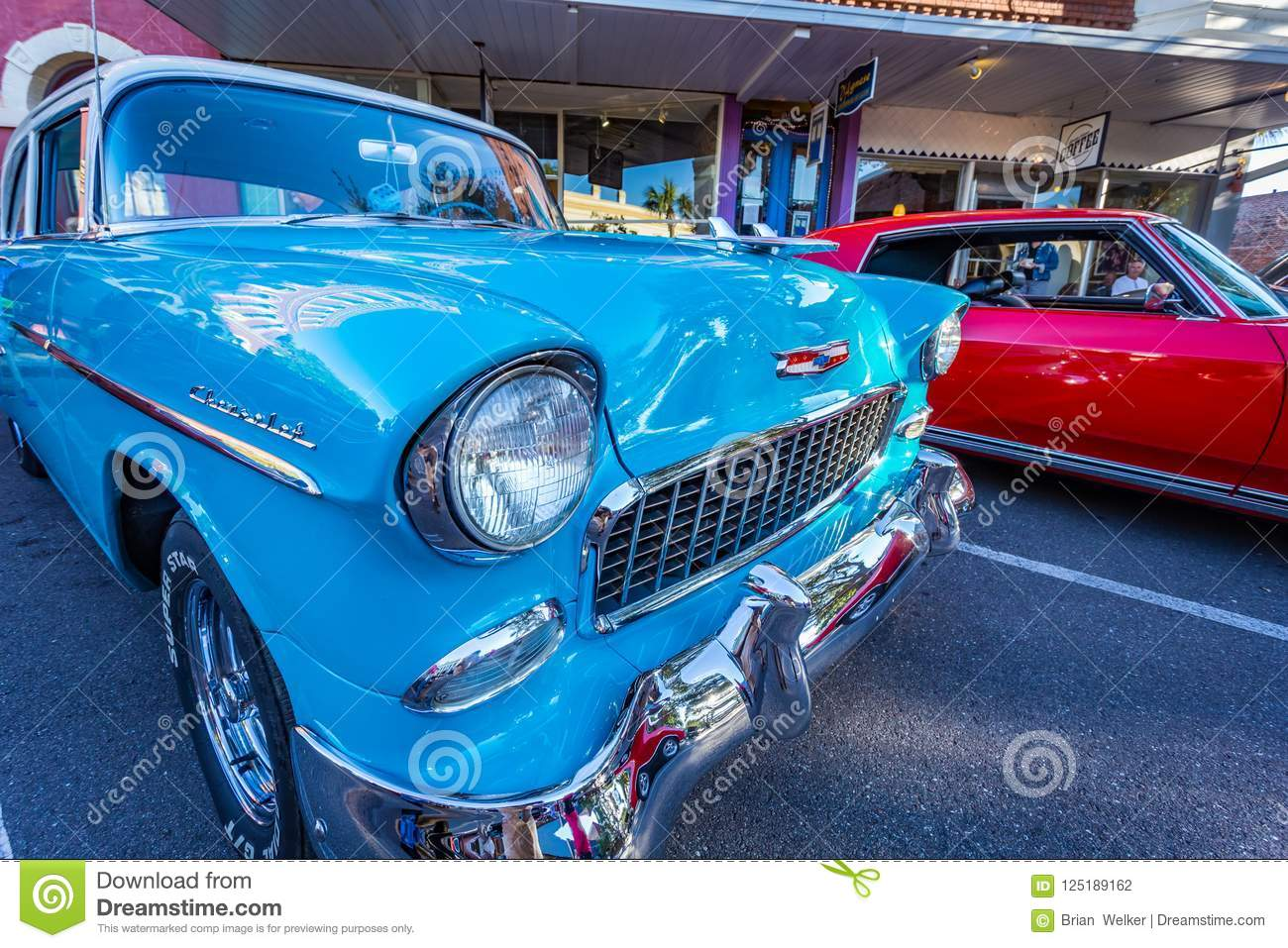 Chevrolet BelAir Coupe Editorial Photography Image Of - Amelia car show