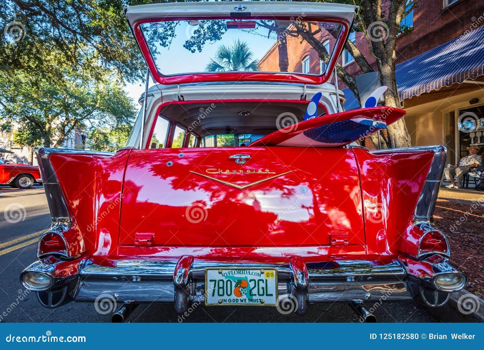 Chevrolet BelAir Station Wagon Editorial Image Image Of - Amelia island classic car show
