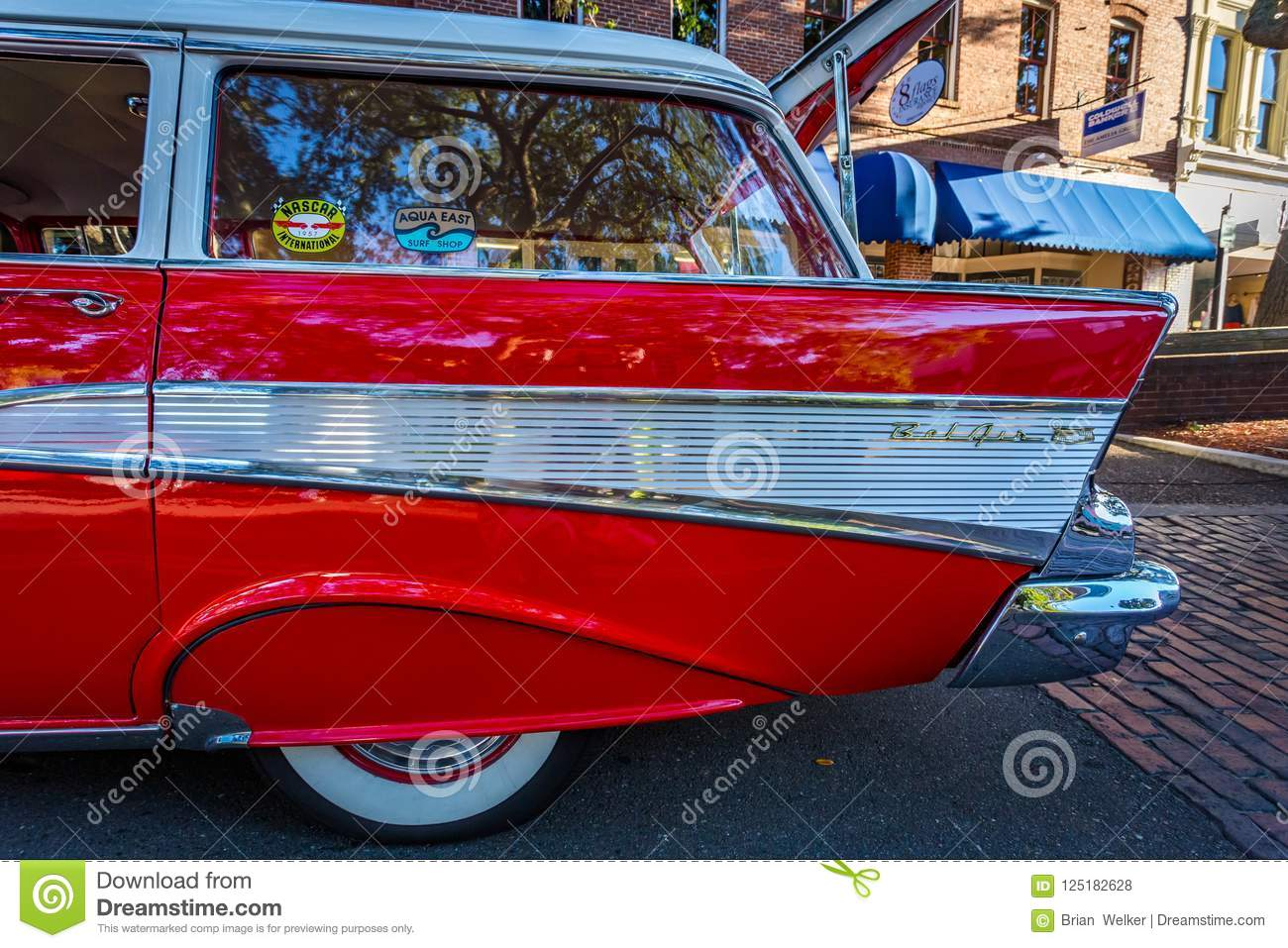 Chevrolet BelAir Station Wagon Editorial Stock Photo Image Of - Amelia car show