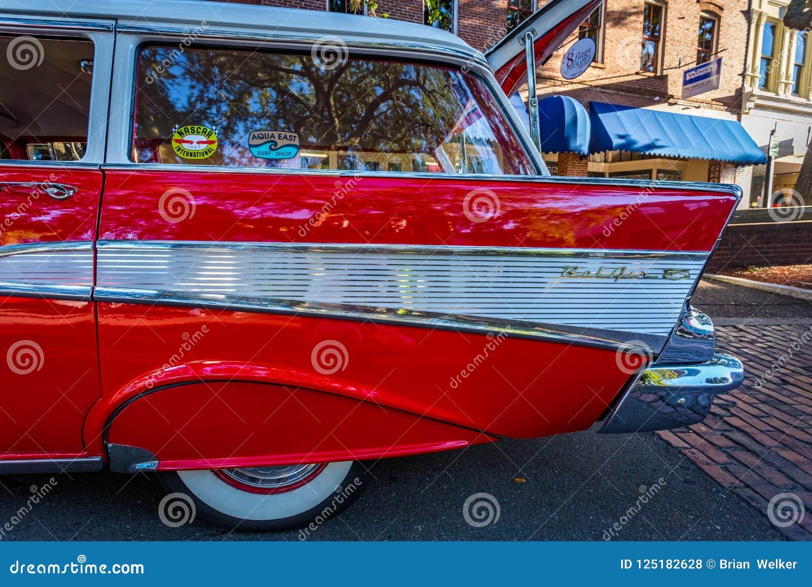 Chevrolet BelAir Station Wagon Editorial Stock Photo Image Of - Amelia car show