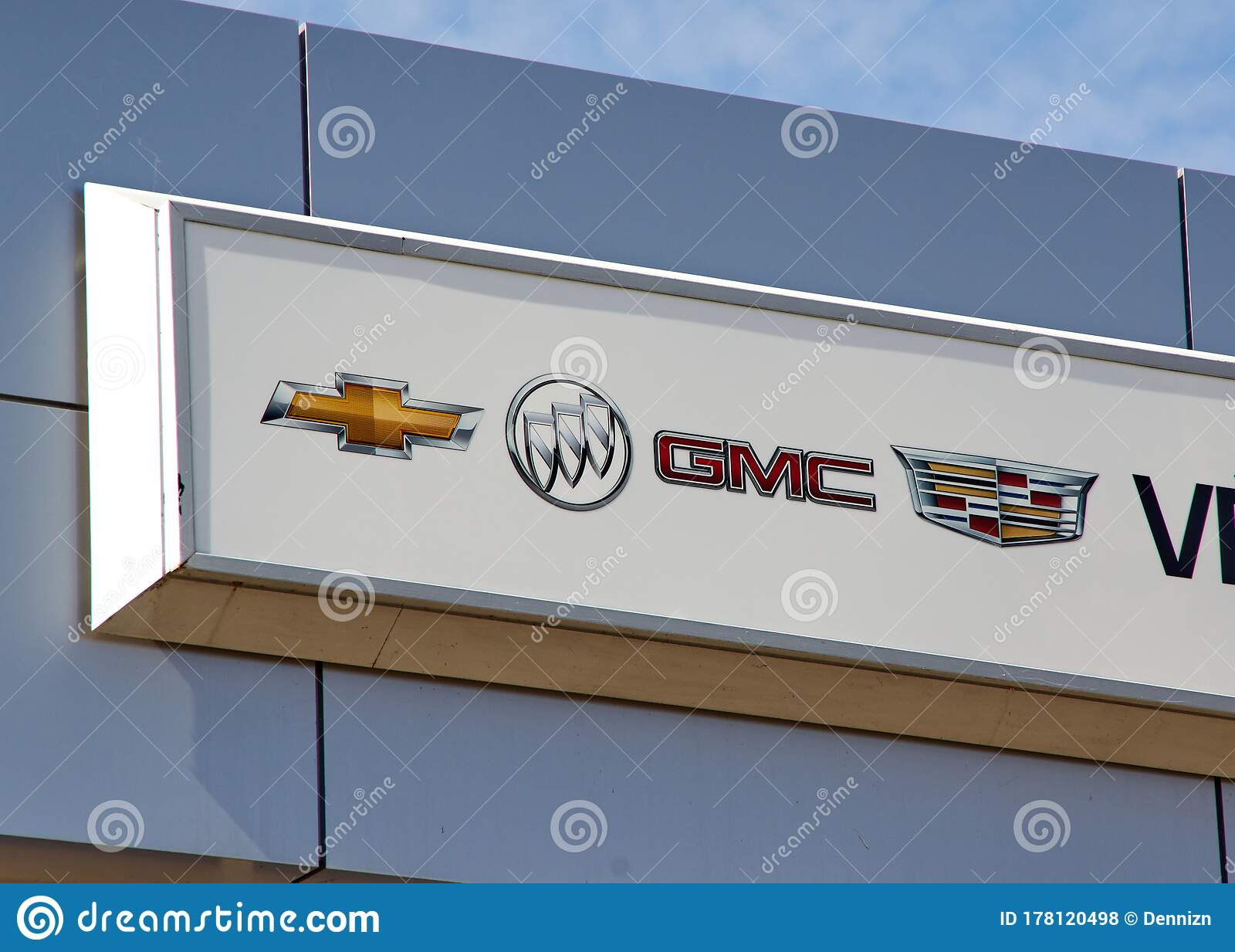 Chevrolet Buick Cadillac And GMC Sign And Logo At ...