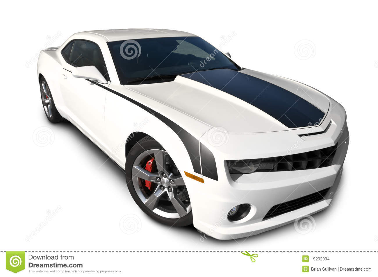 Chevrolet Camaro Isolated On White Stock Images Image 19292094