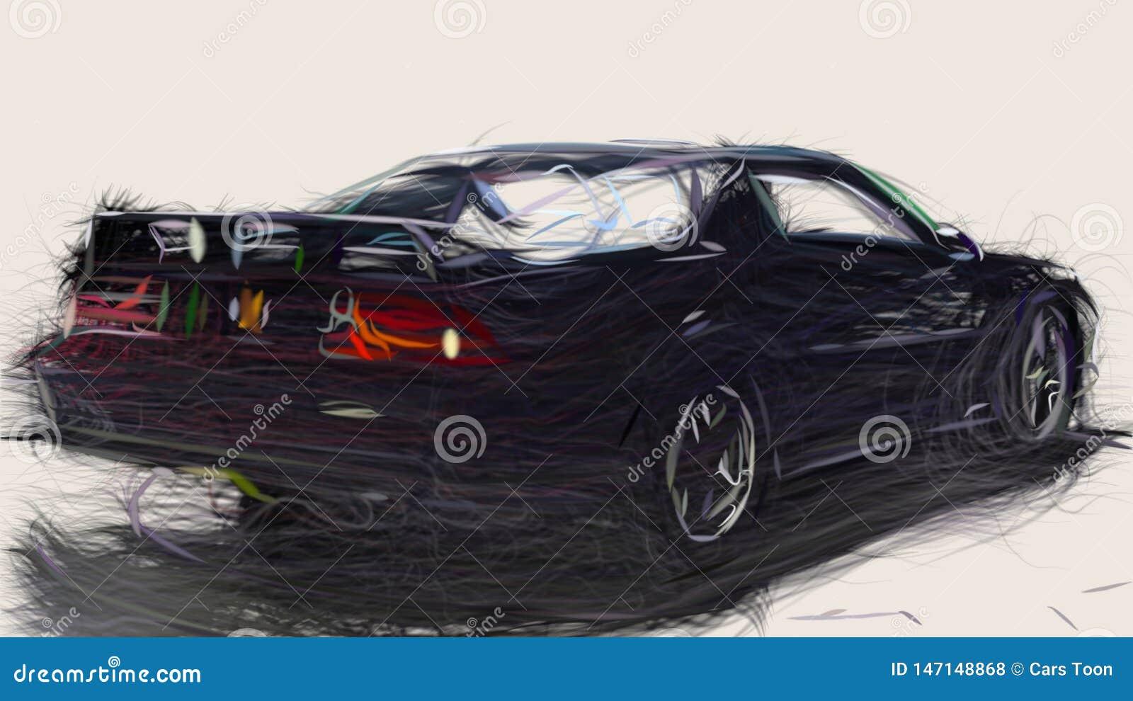1991 Chevrolet Camaro Z28 Id 2009 Stock Illustration