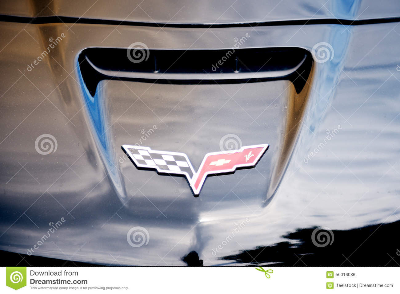 Chevrolet Corvette Logo On A Luxury Sport Car Editorial Photo