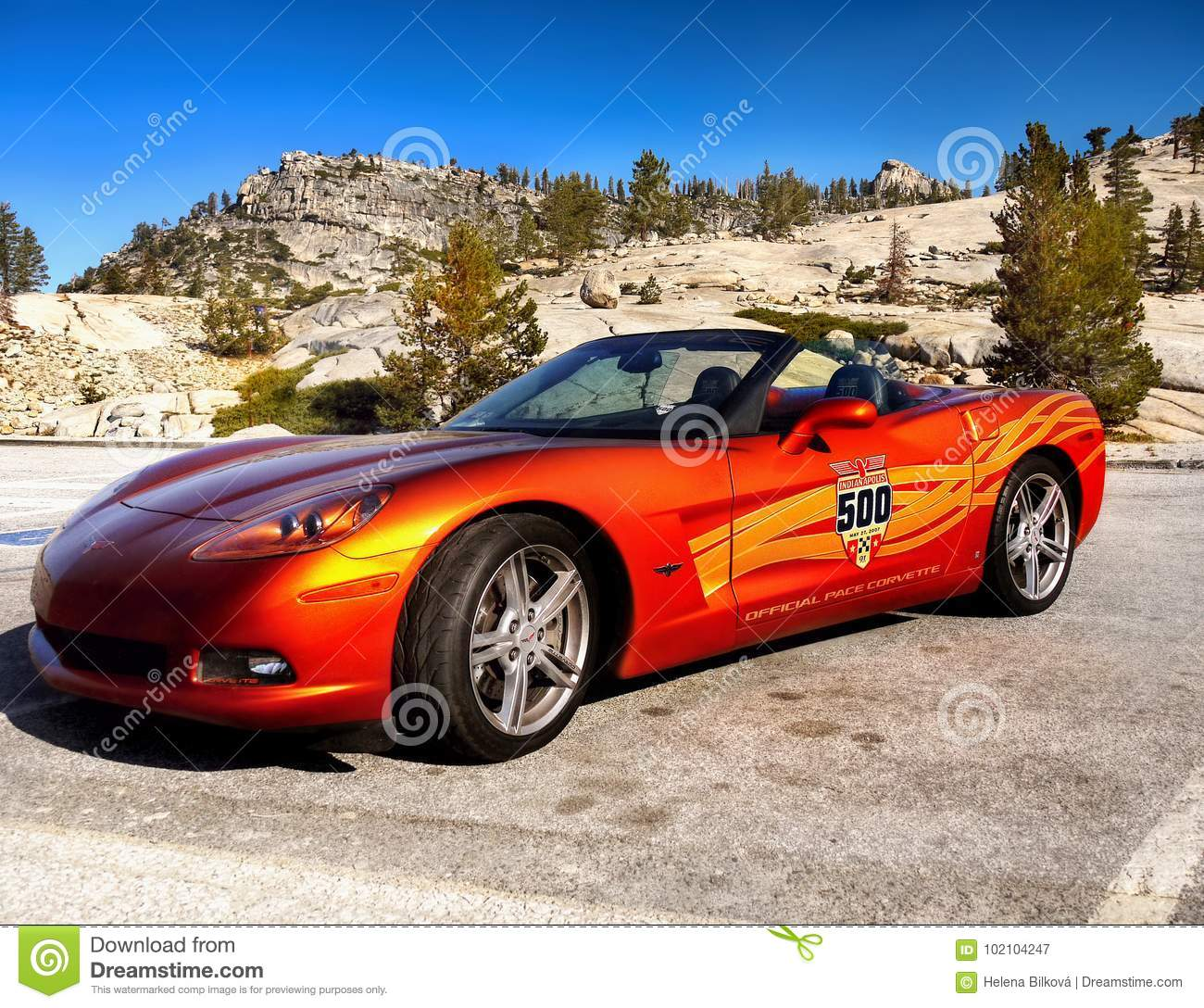 Chevrolet Corvette Sports Car Editorial Photography
