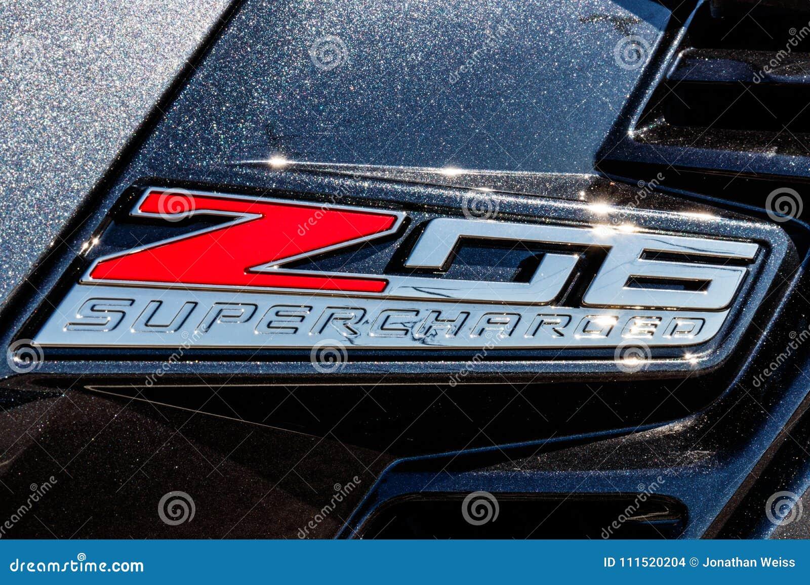 Indianapolis Circa March 2018 Chevrolet Corvette Z06 Emblem At A