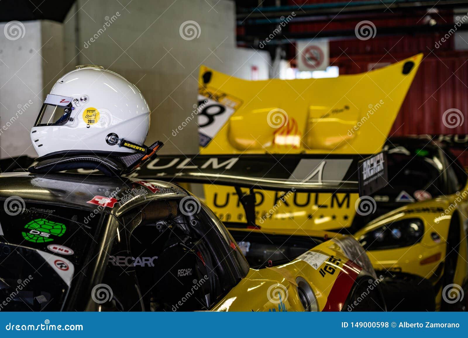 Chevrolet Corvette Z06 R i montjuic show f?r bil f?r andeBarcelona str?mkrets