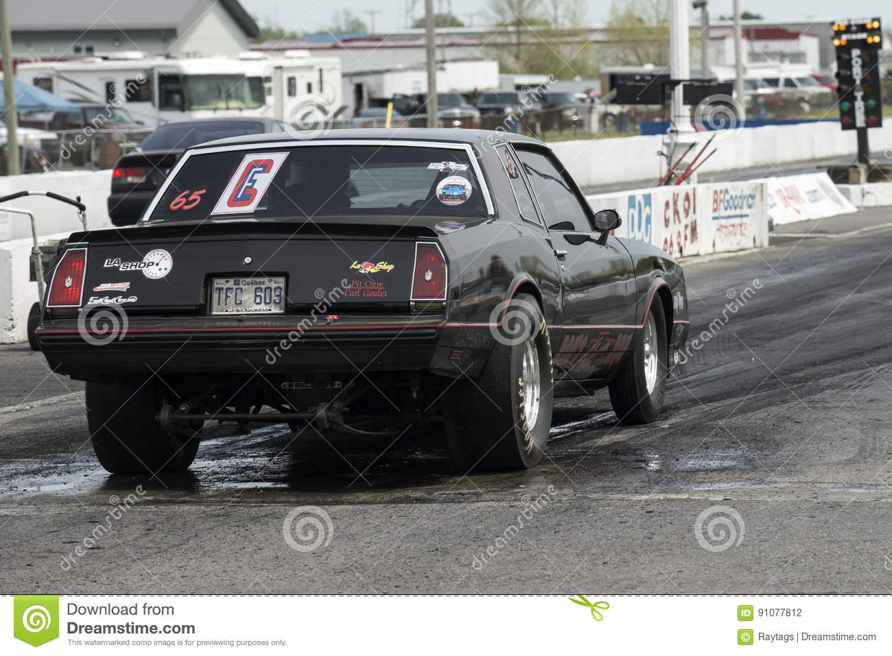 Chevrolet Drag Car Rear View Editorial Photography - Image of ...