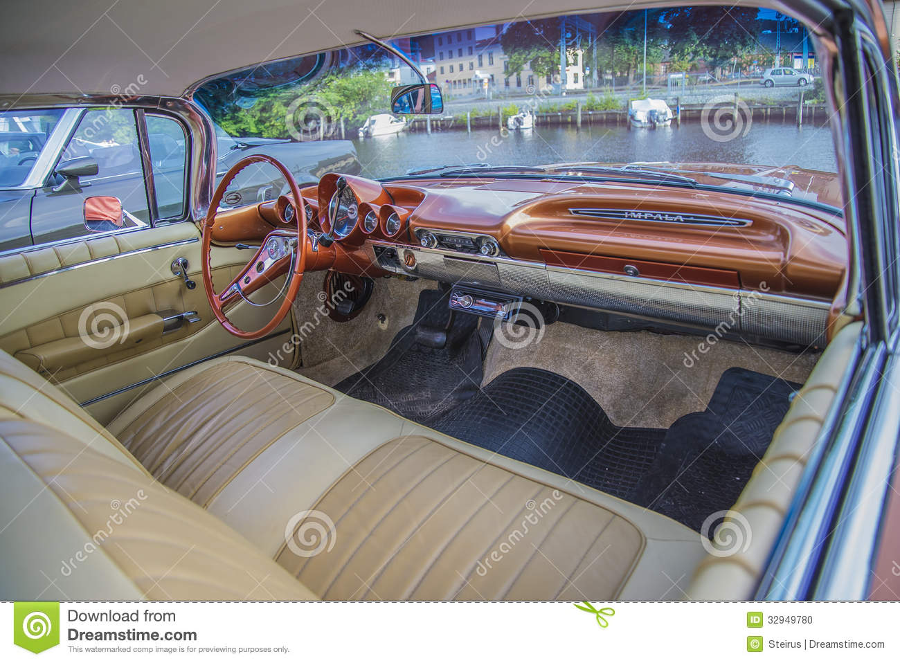 Chevrolet Impala 1960  Dashboard Editorial Image