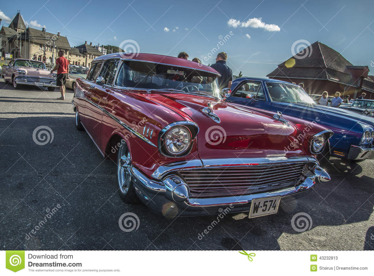 1957 Chevrolet Nomad Station Wagon Editorial Stock Photo Image Of Chevy Download Hood