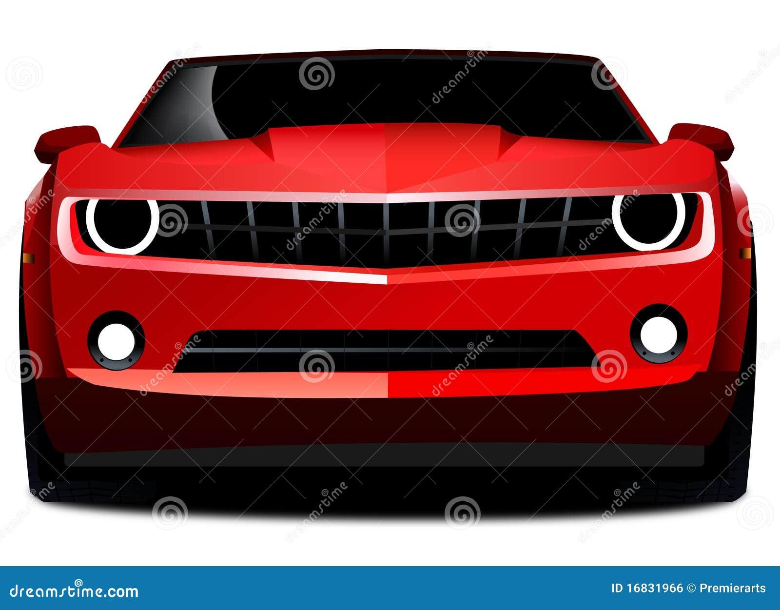 Chevrolet Red camaro sports car
