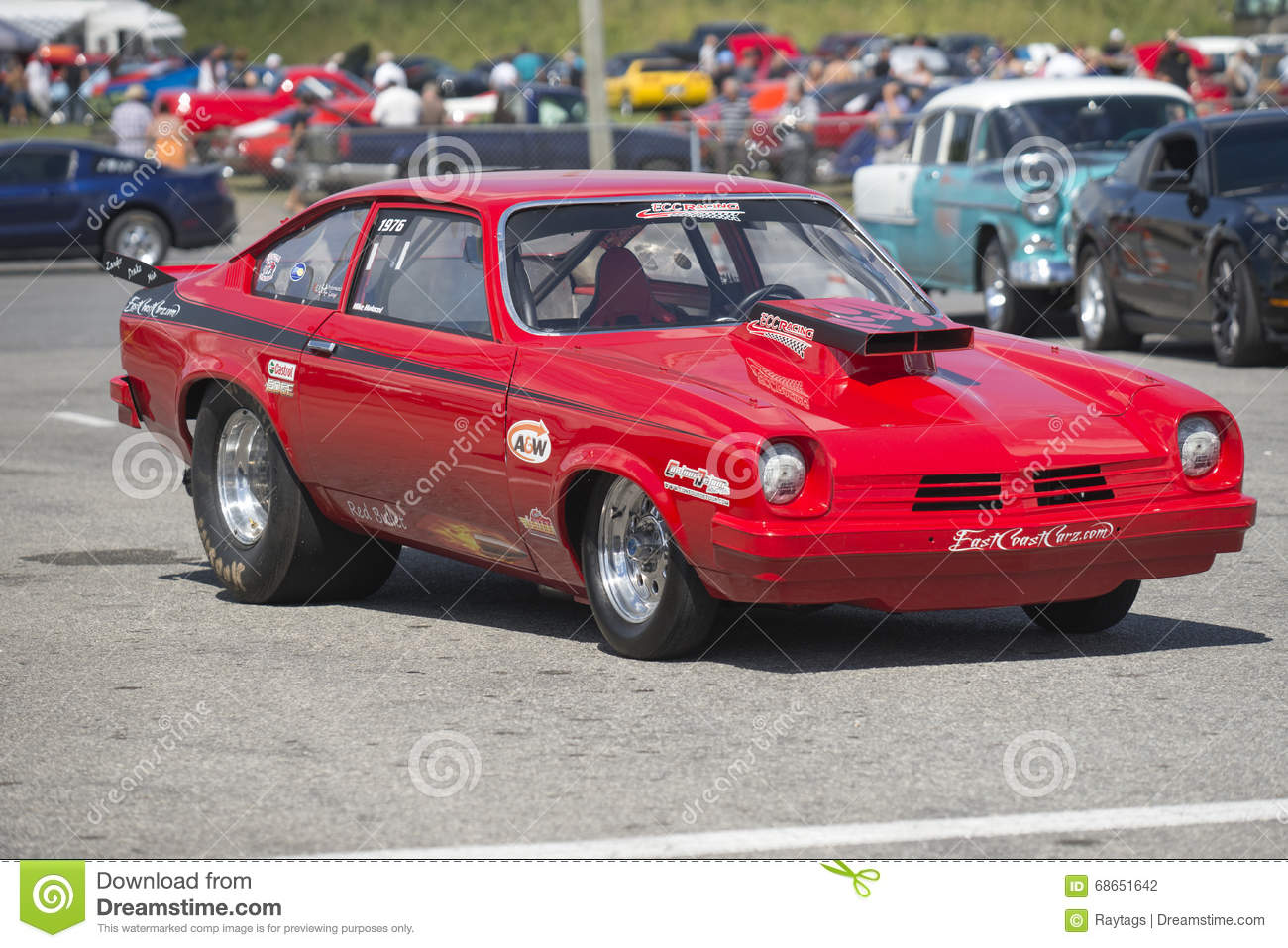 Chevrolet vega drag car editorial photography. Image of race - 68651642