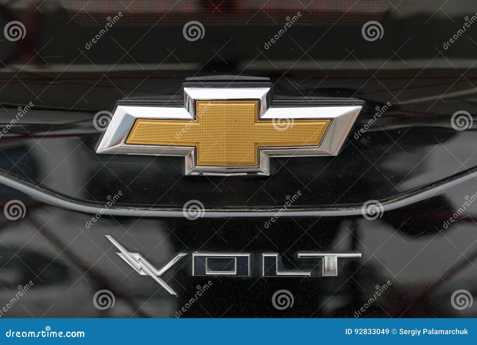 Chevrolet Volt Electric Car On Kiev Plug In Ukraine 2017 Exhibition Chevy