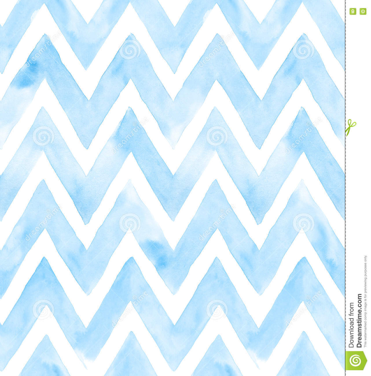 Watercolor Chevron With White Background. Seamless Pattern For ...