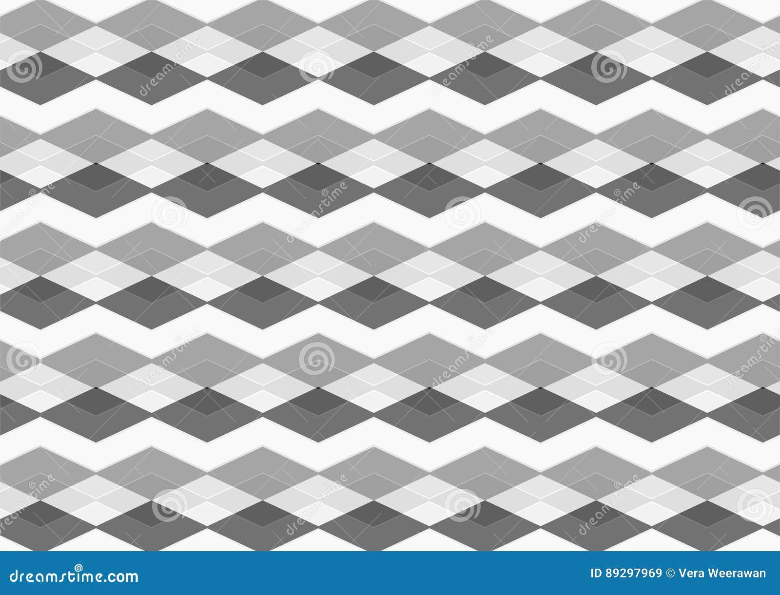 Chevron Diamond Black Gray And White Seamless Patterns