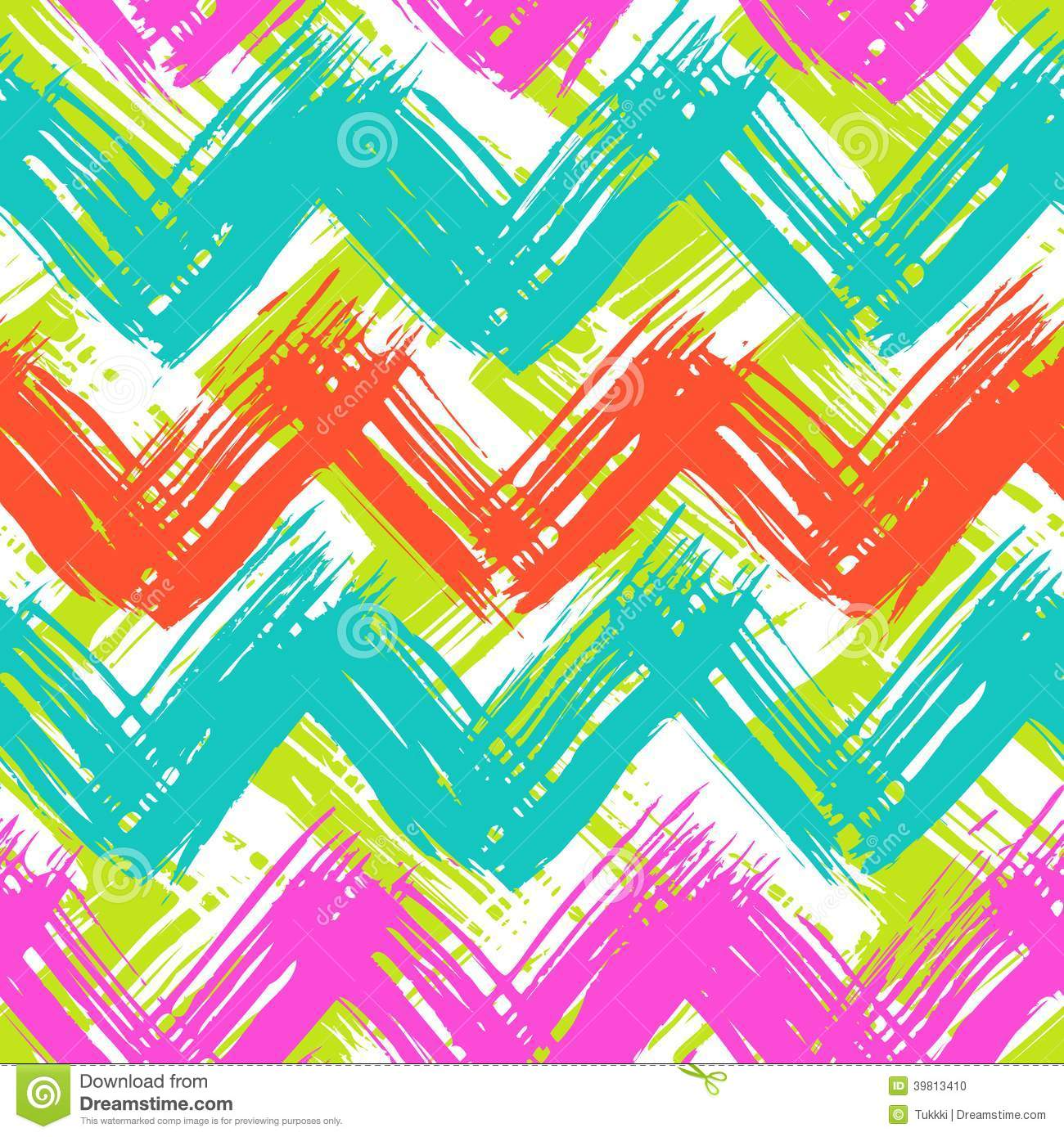 chevron pattern hand painted with brushstrokes stock
