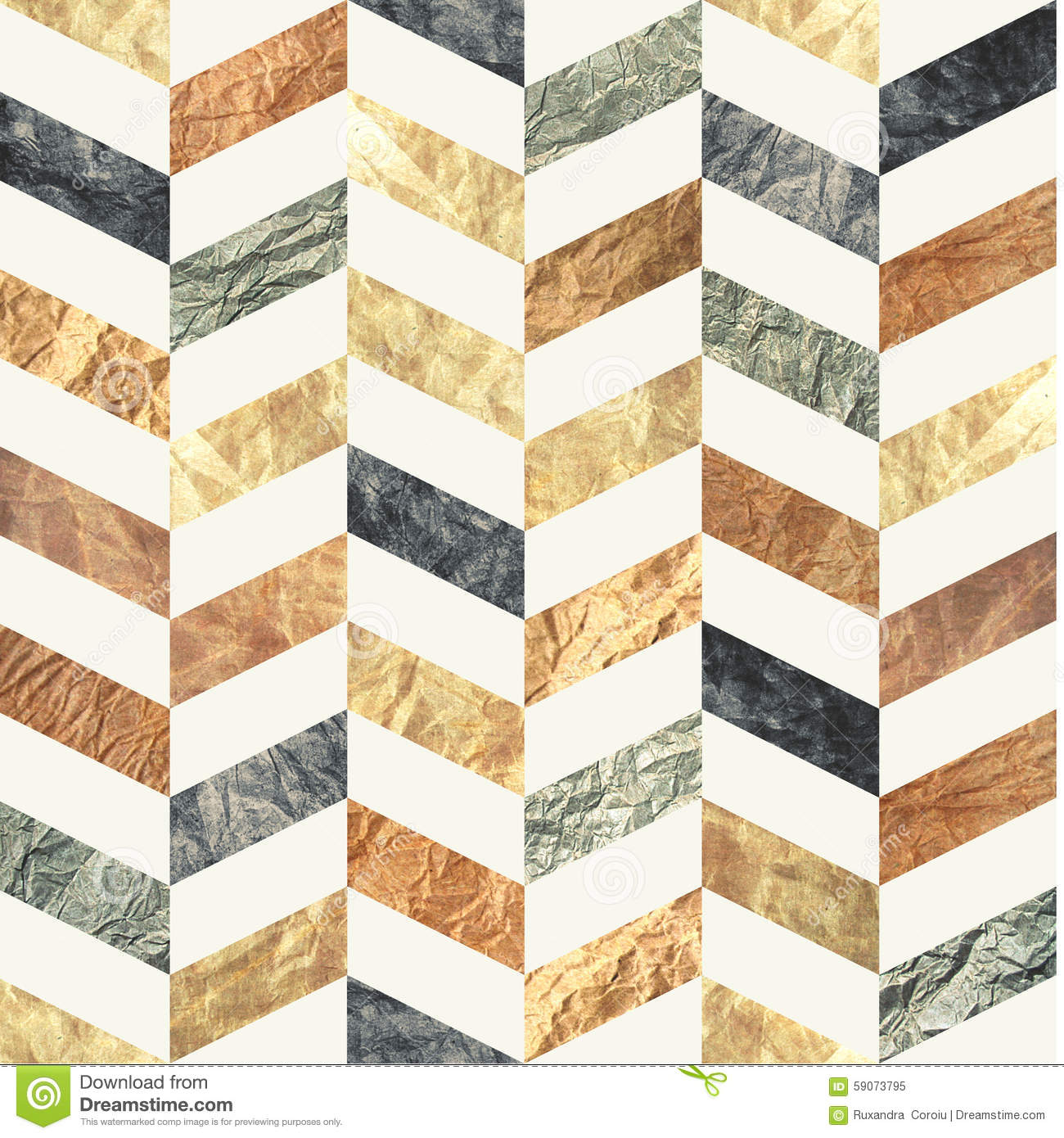 Chevron Seamless Pattern Made Of Brown, Beige, Grey And ...