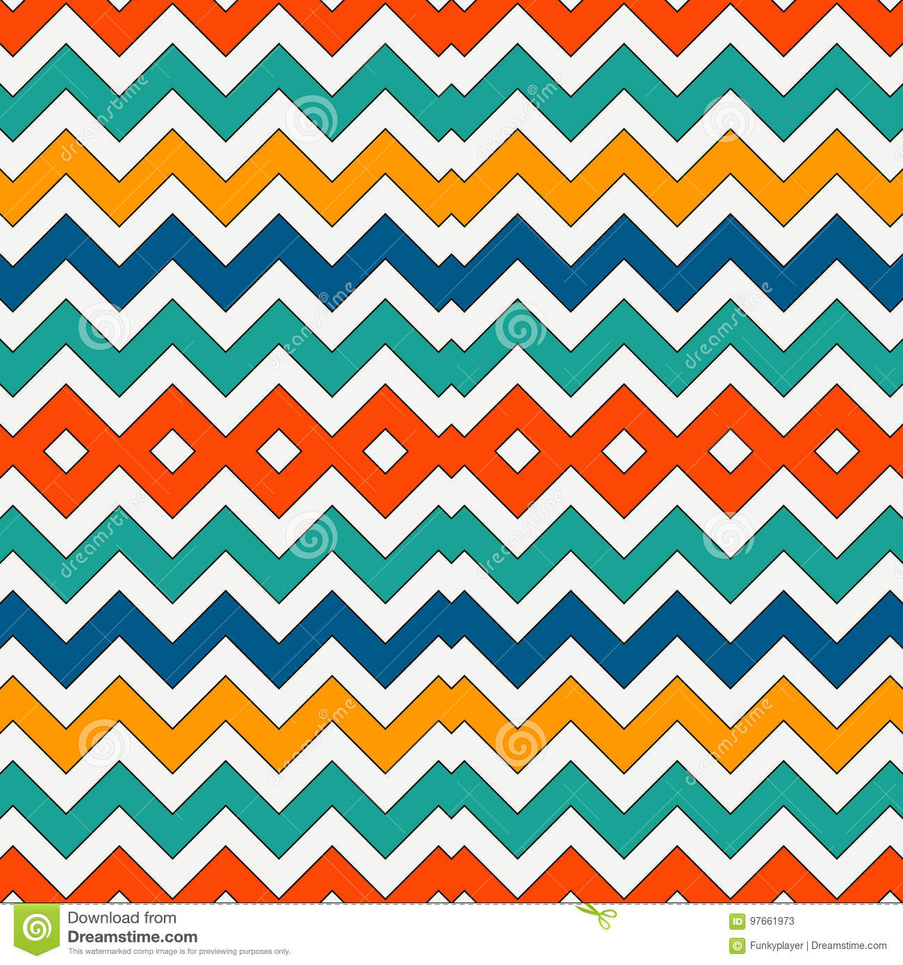 chevron stripes background  bright seamless pattern with