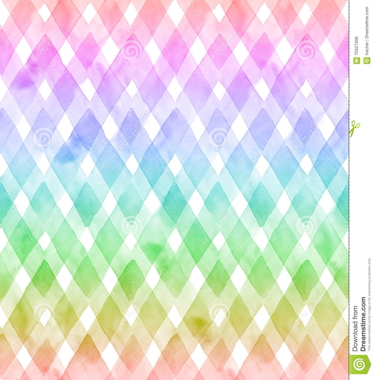 Watercolor Chevron With White Background Seamless Pattern