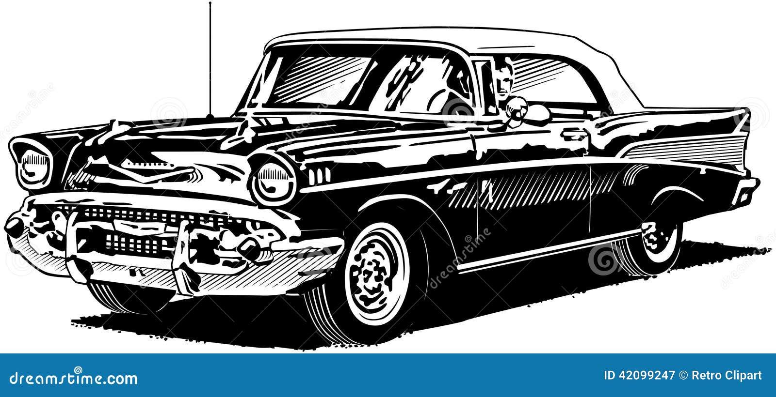 57 chevy stock vector illustration of transportation 42099247 rh dreamstime com 57 chevrolet clipart 1957 chevy clip art
