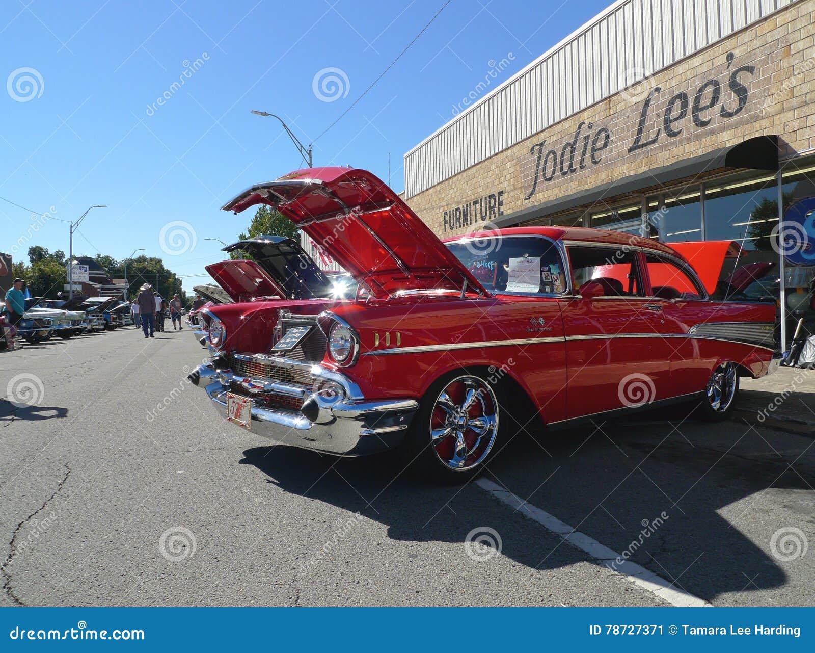 Chevy Belair 1957 alla manifestazione di automobile