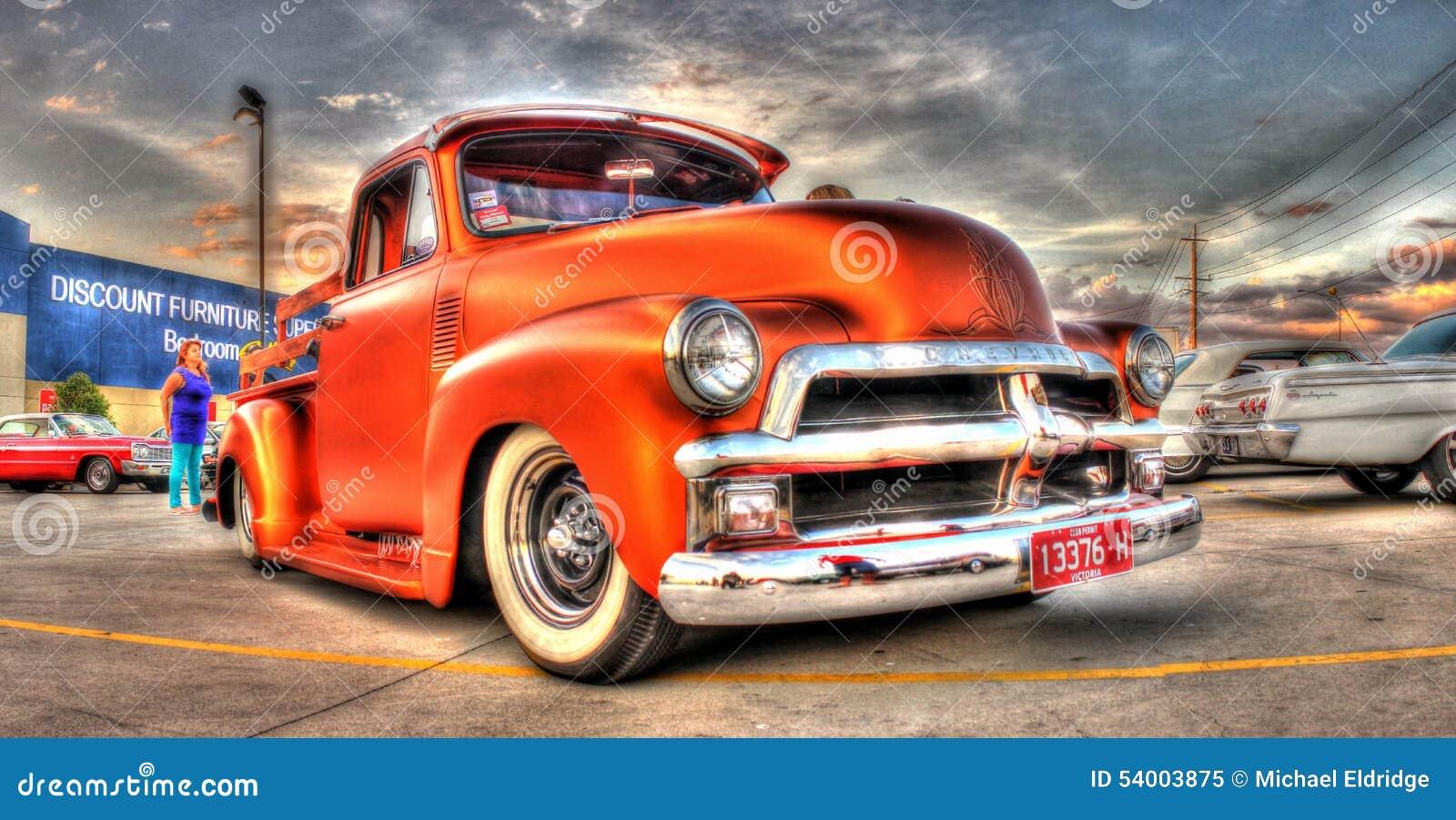 Chevy Clásico Coge El Camión Imagen editorial - Imagen de selección ...