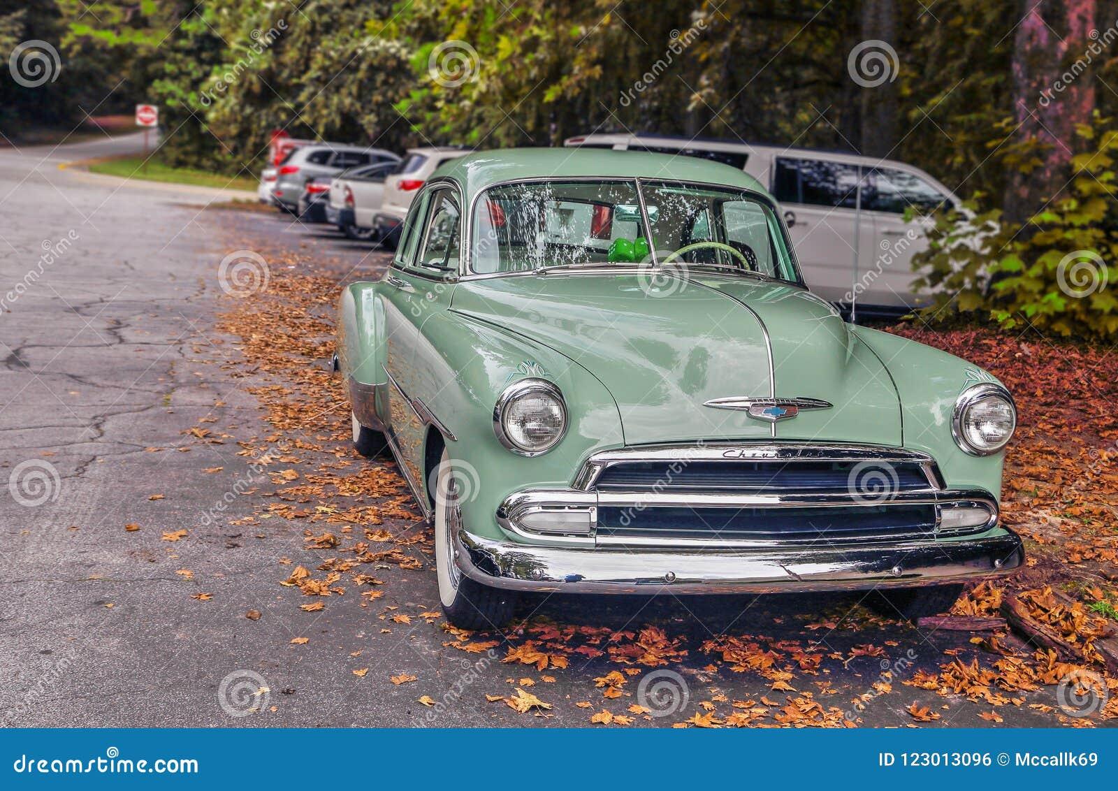 Chevy Deluxe Mint Green nittonhundrafemtio