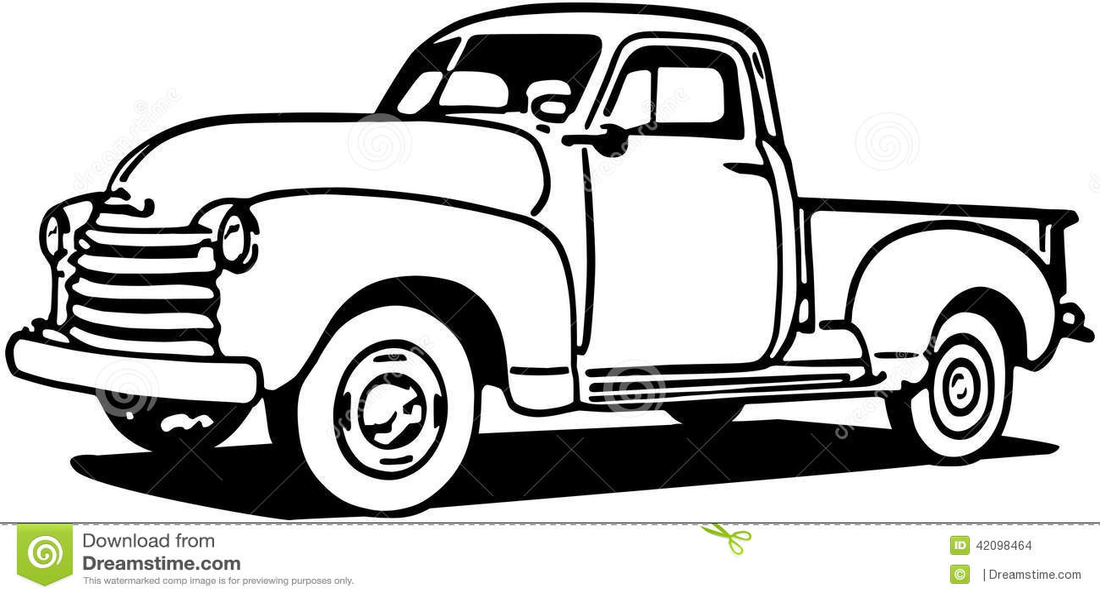 chevy pickup truck stock vector
