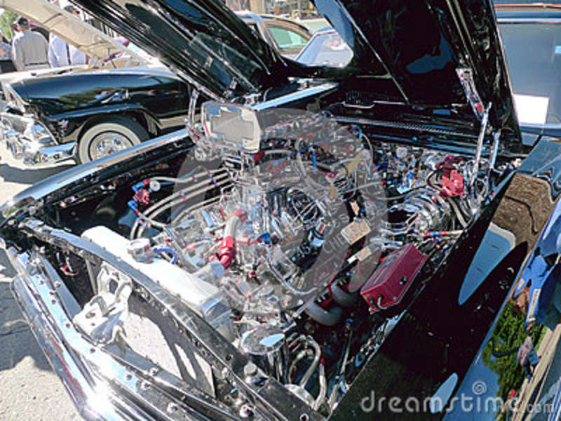 Chevy SS 454 engine at car show
