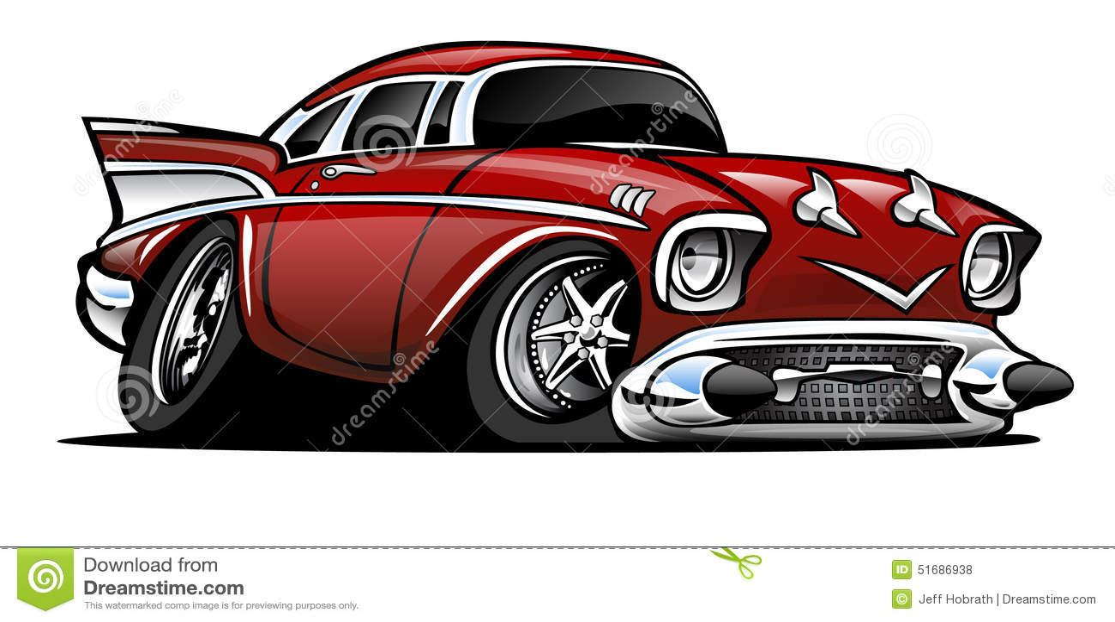 57 Chevy Vector Illustration