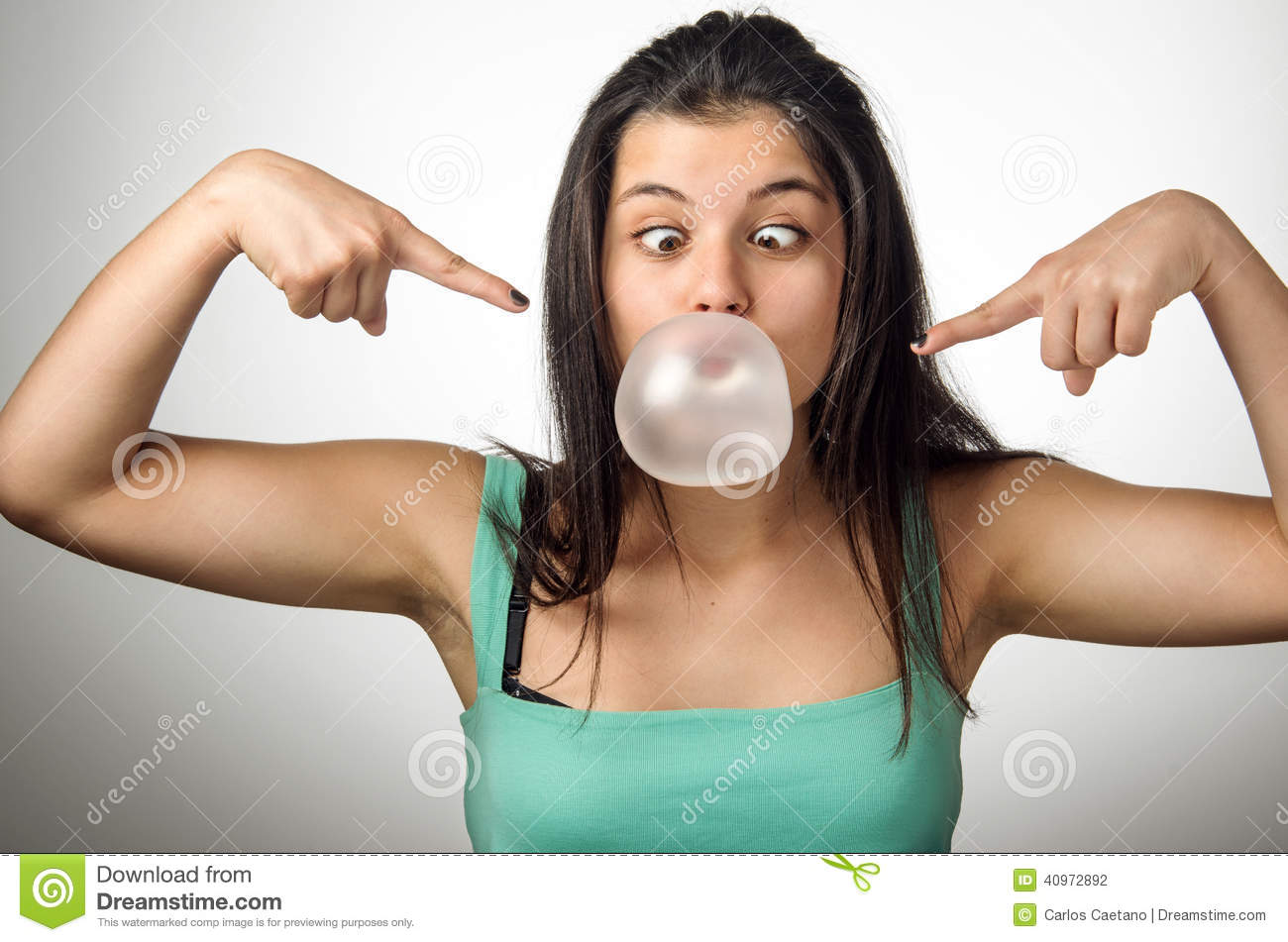 Download Chewing Gum Girl stock photo. Image of chewing, cool - 40972892