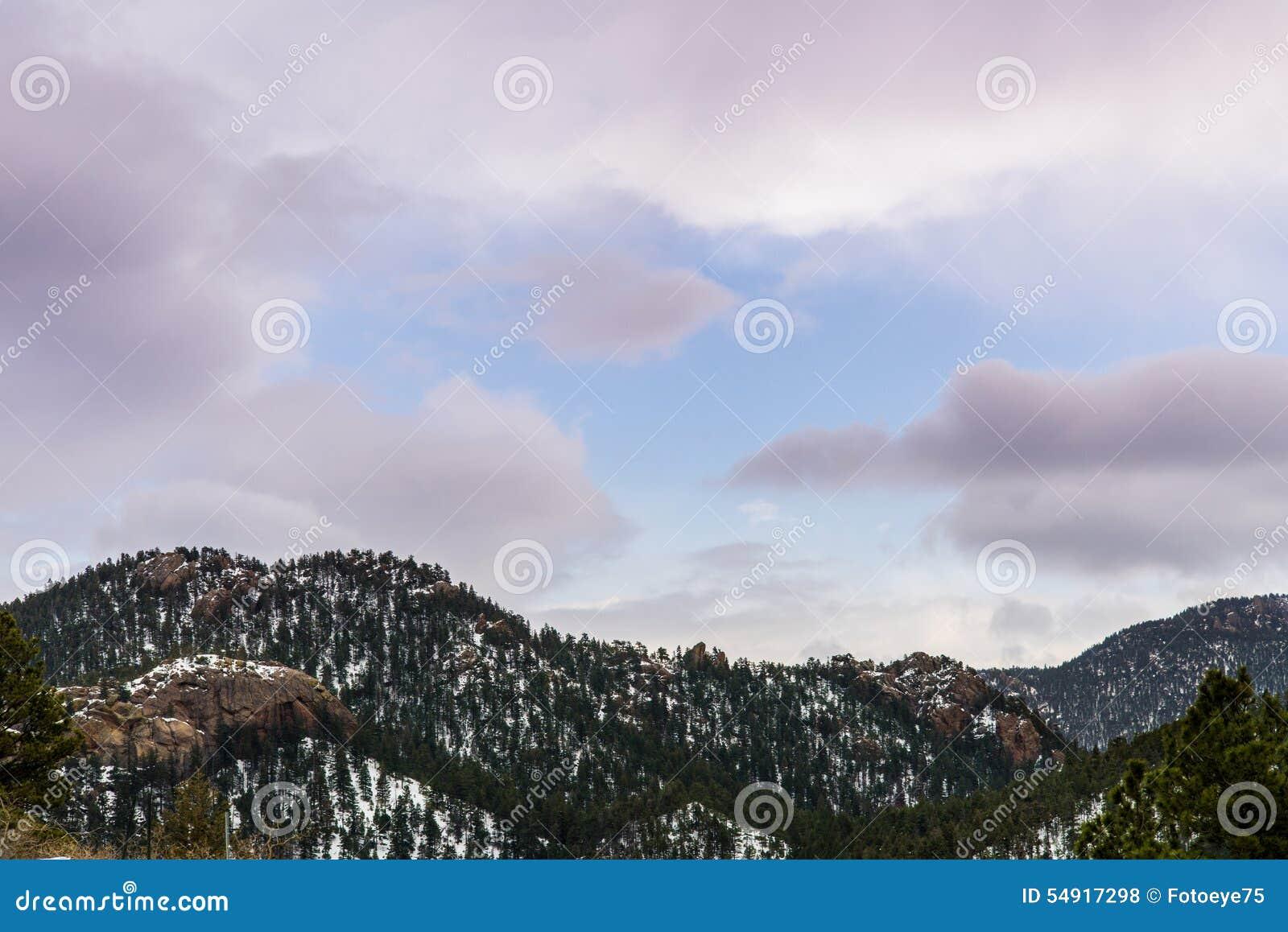 Cheyenne Mountain Sunrise Sunset Colorado vårar