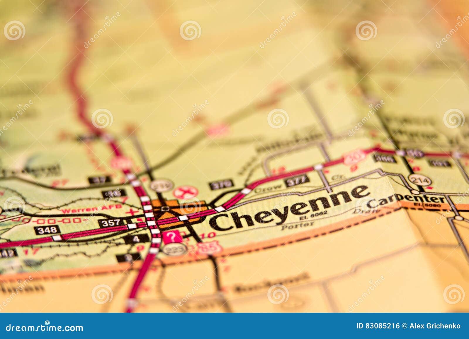 Cheyenne wyoming områdesöversikt