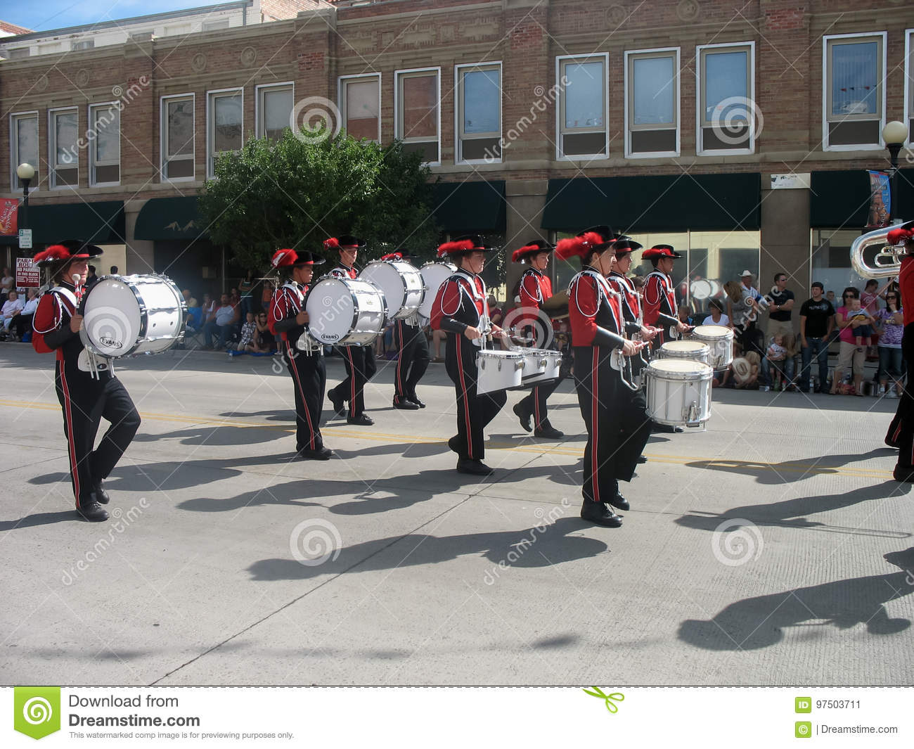 Cheyenne, Wyoming, USA - July 27, 2010: Parade in downtown Cheyenne, Wyoming, during the Frontier Days annual