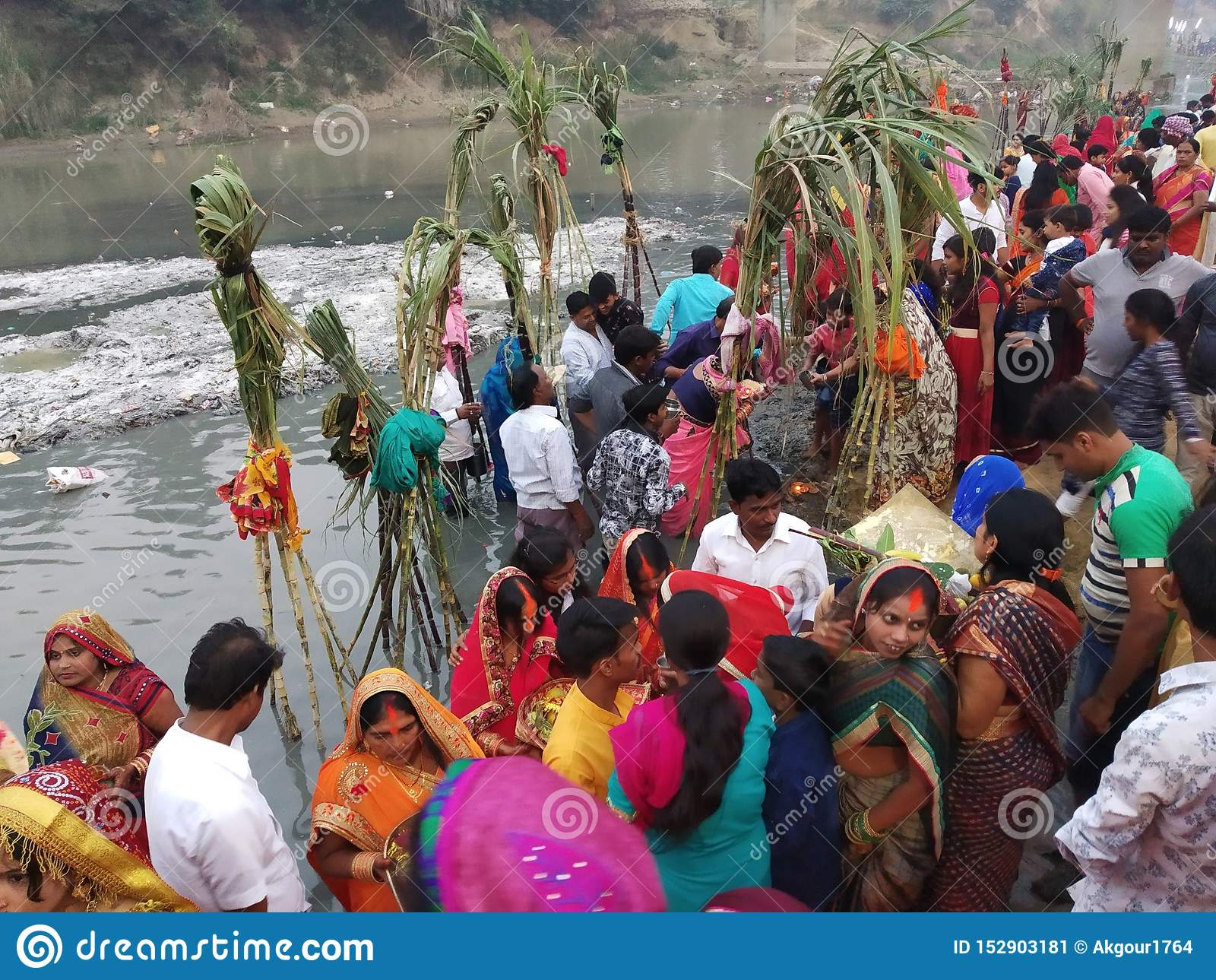 Chhath Pooja Scene-2 de Azamgarh, Uttar Pradesh