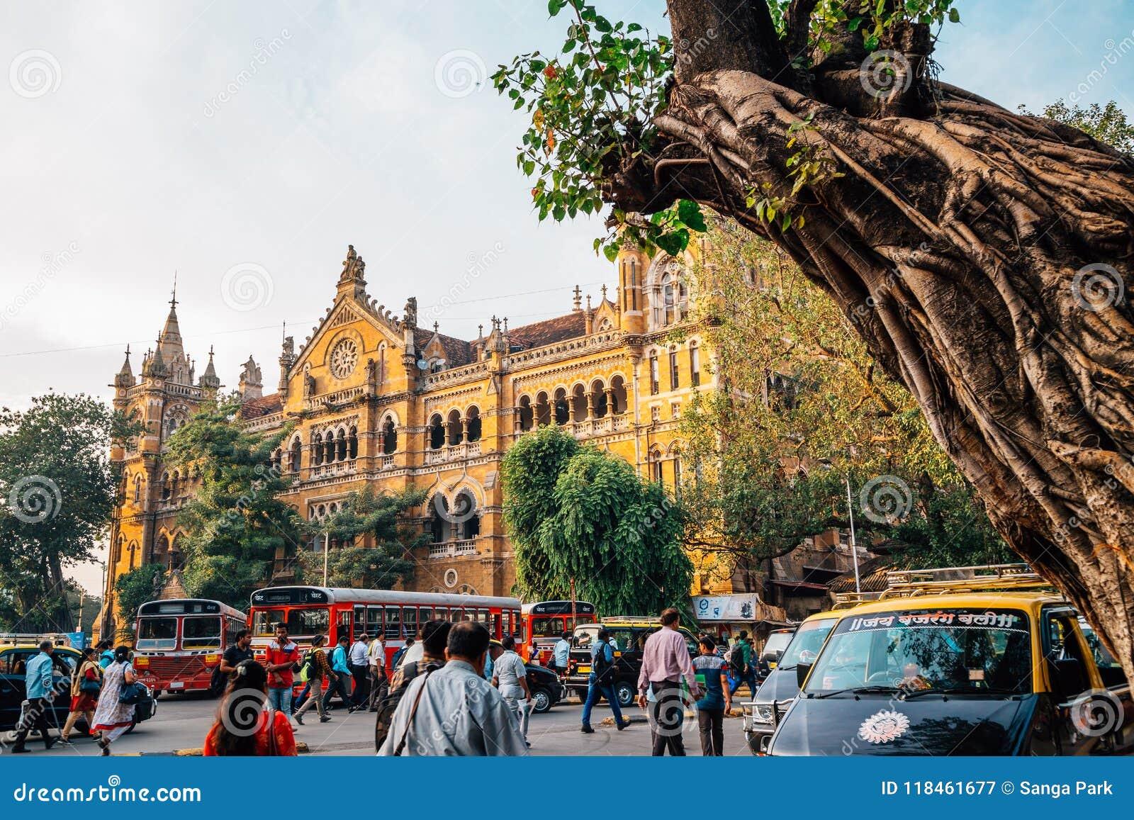 Chhatrapati Shivaji Maharaj Terminus, Bahnhof in Mumbai, Indien