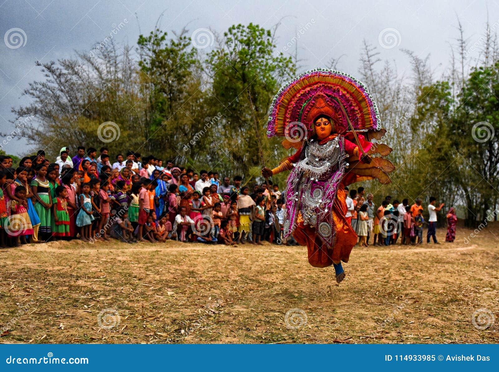 Chhau-Tanz von Indien