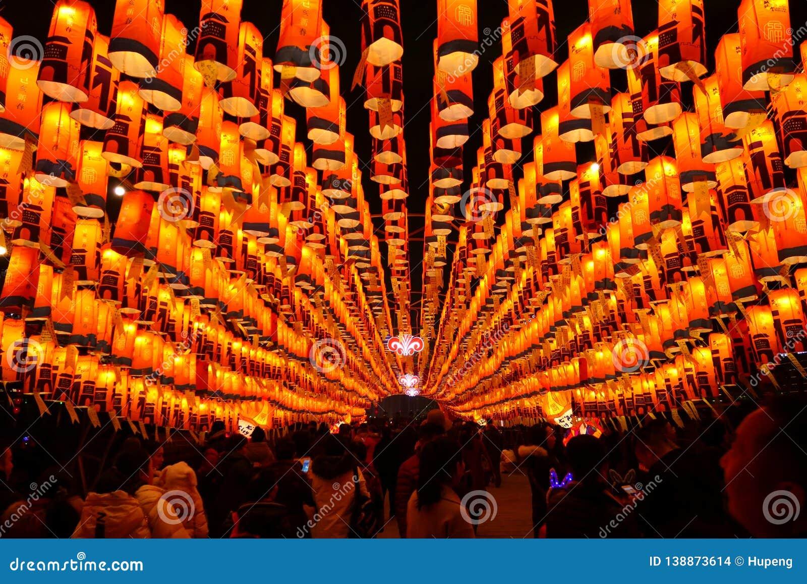 2019 Chińskich nowy rok w Xian