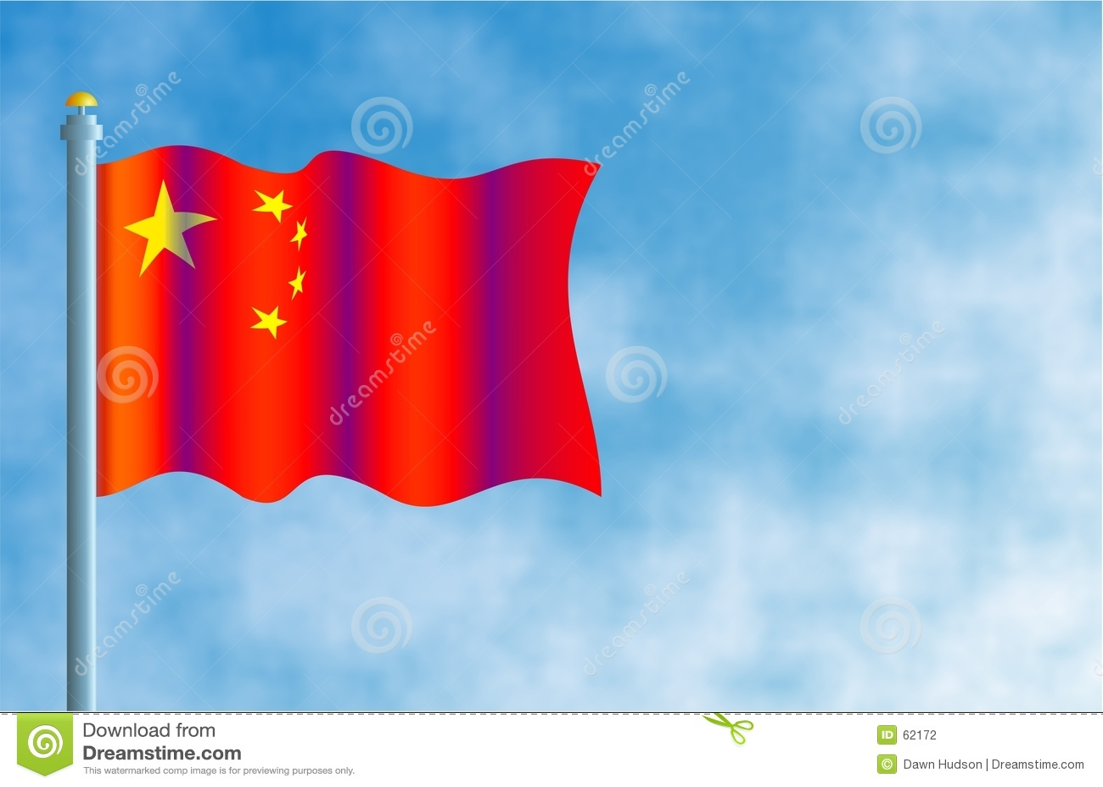 Chińczycy flagę