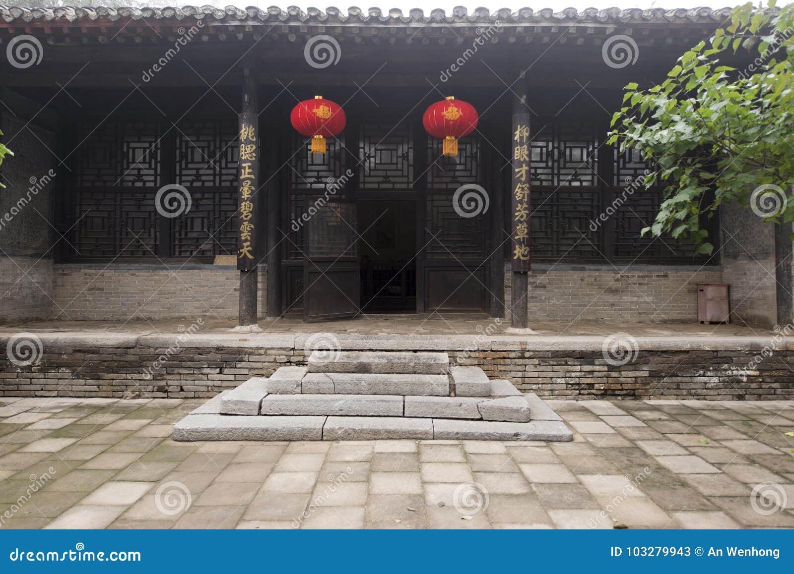 2017 chińczyka Baoding stary dom Antyczni ogródy i przyśpiewki