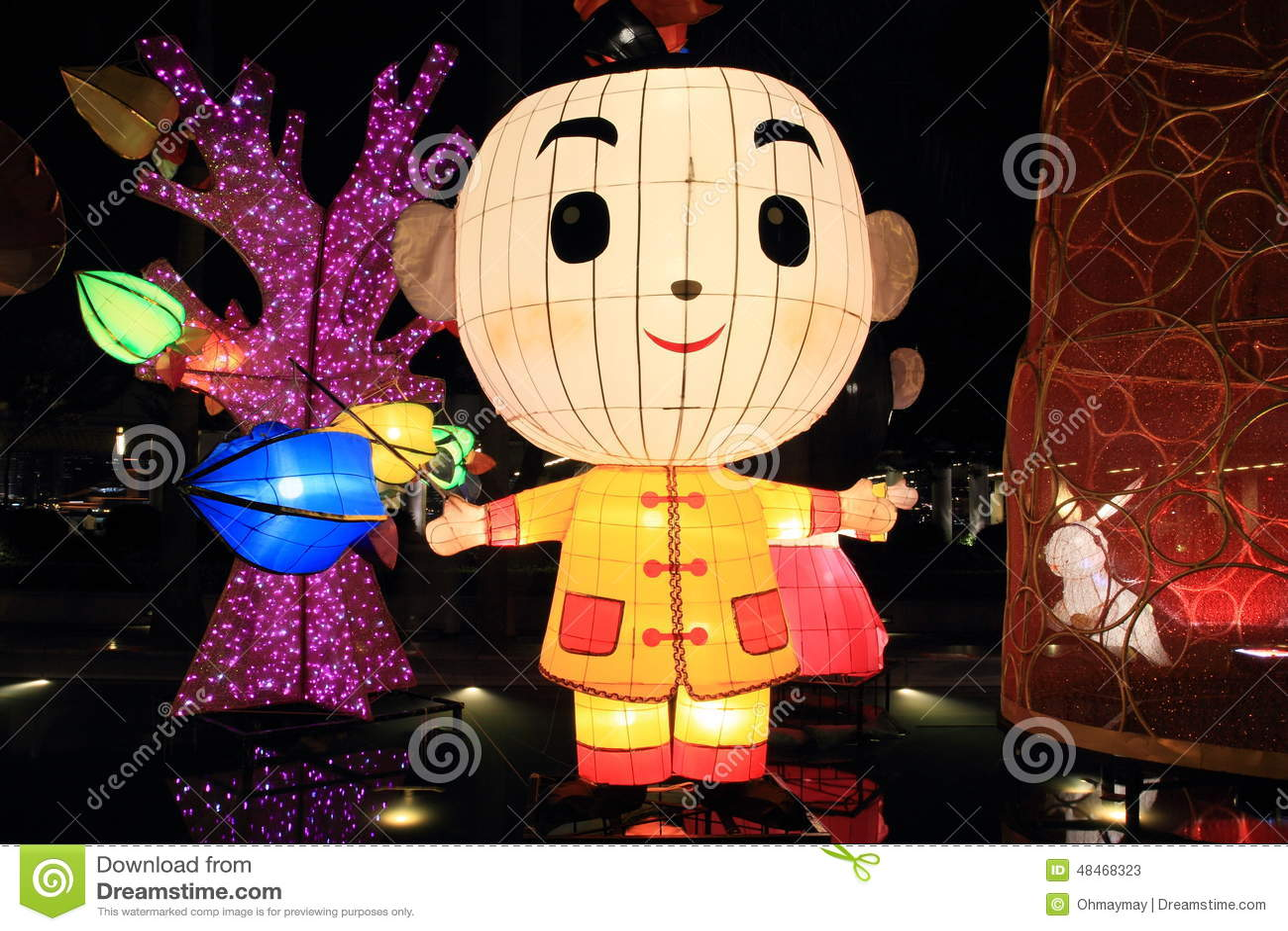 Chińscy chłopiec zabawki lampiony