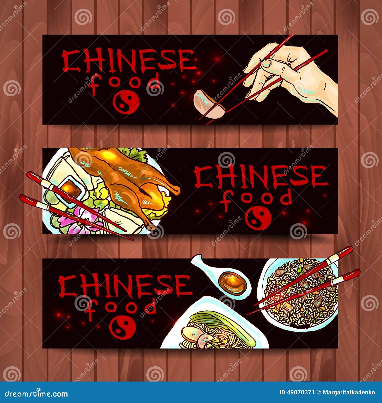 Chińscy karmowi sztandary