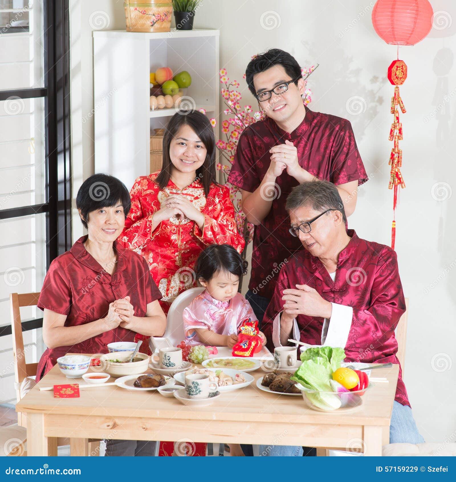 Chińska nowy rok grupy fotografia