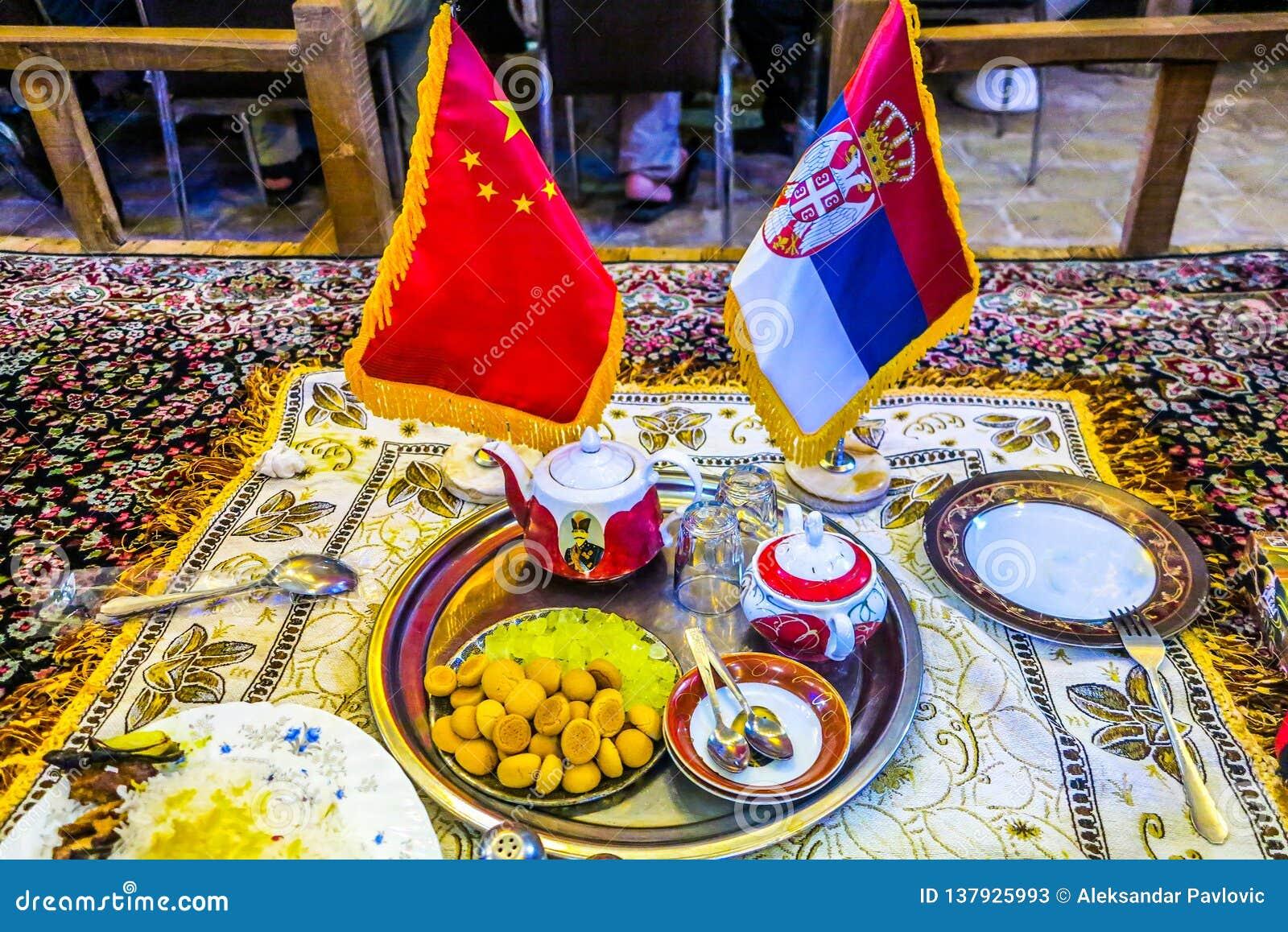 Chińska serb flaga